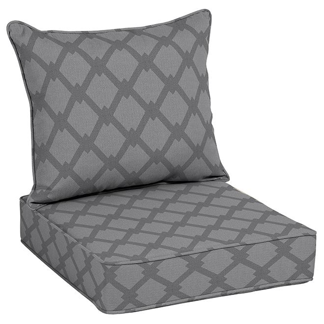 Allen+Roth Cushion Chair - Polyester - 46'' - Grey