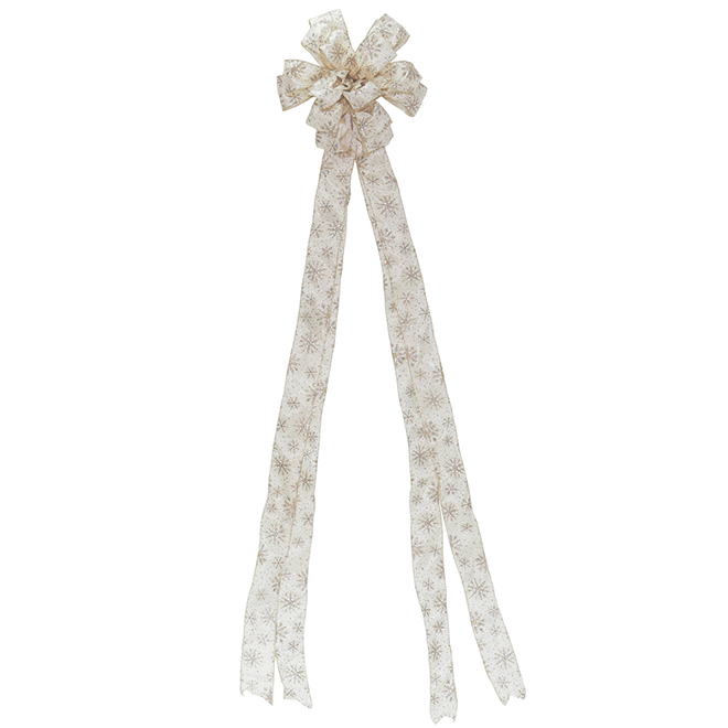 Bow with Snowflakes - Fabric - Ivory