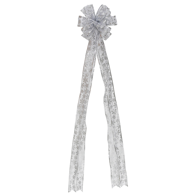 Bow with Snowflakes - Fabric - Silver