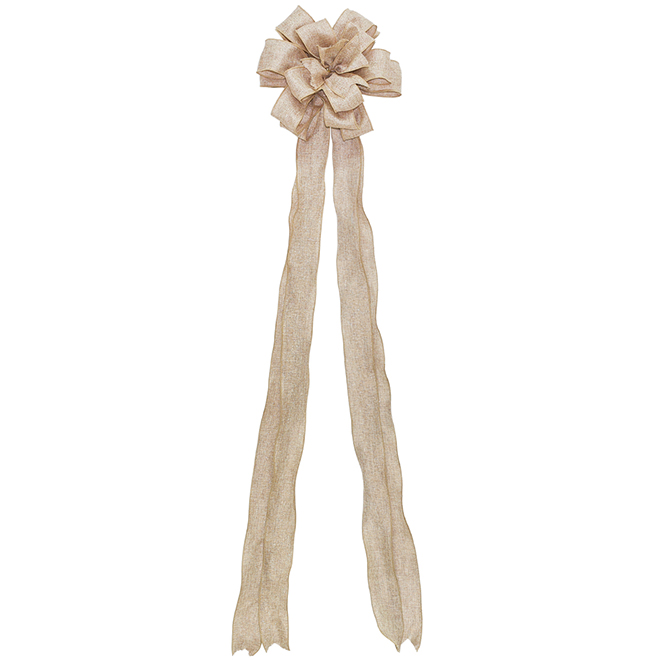 Gold Threading Bow - Fabric - Natural