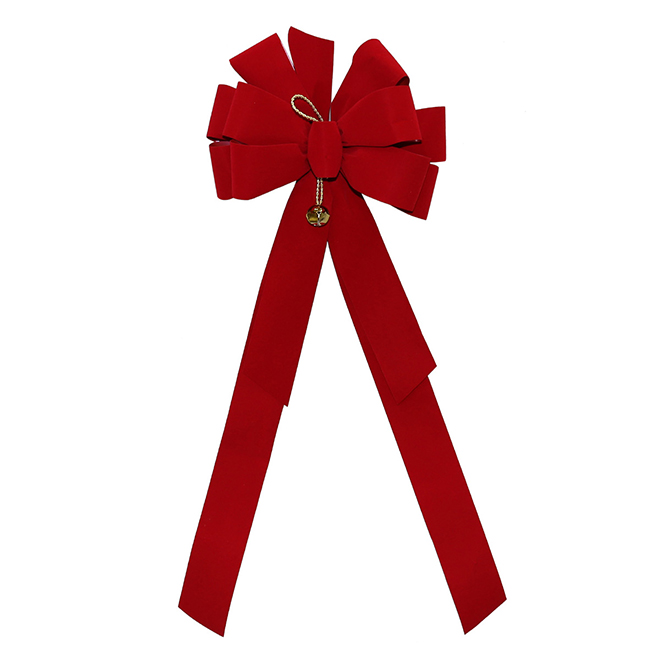 Deluxe Red Bow - JIngle Bell - Fabric