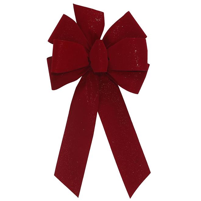 Boucle traditionnelle en tissu, 8 po x 17 po, baie rouge