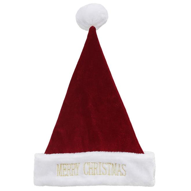 Chapeau du Père Noël Holiday Living, taille universelle, rouge et blanc
