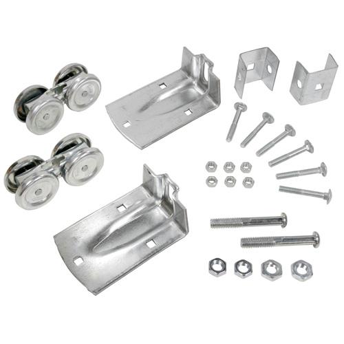 Wheel Kit for Barn Doors - Galvanized Steel