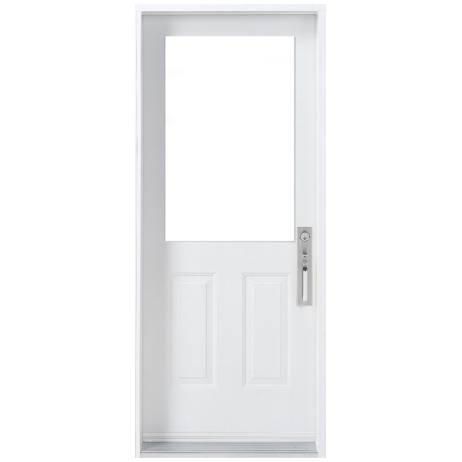 """6-Panel Exterior Door - Steel - 34"""" x 80"""" - Left"""