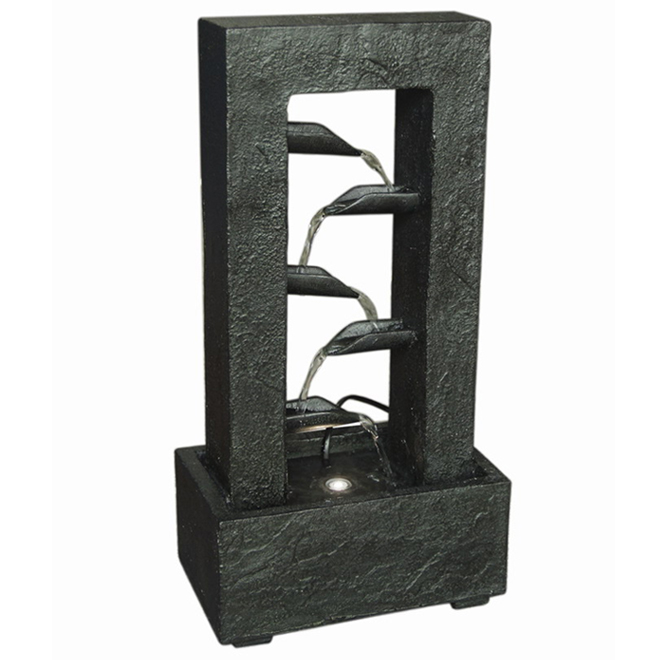 Styles Selection Contemporary Fountain - LED Lighted - 18.7-in - Black