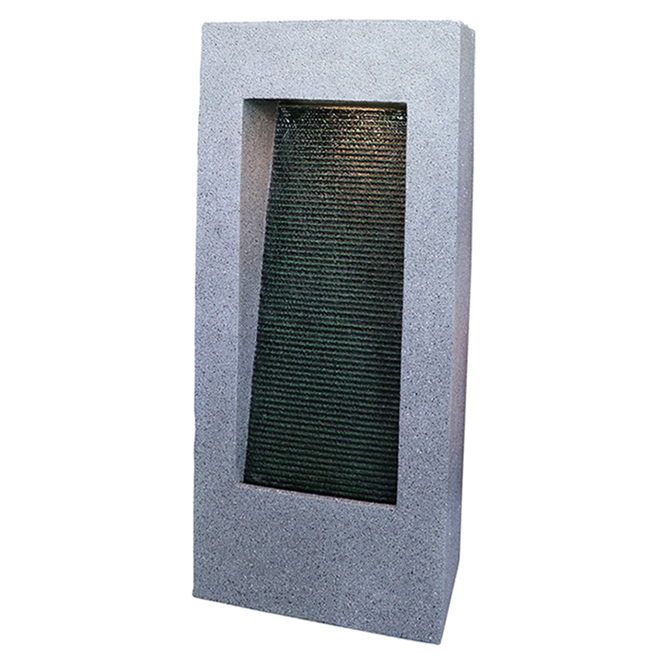 Styles Selection Contemporary Wall Fountain - LED Lighted - 35.3-in - Grey