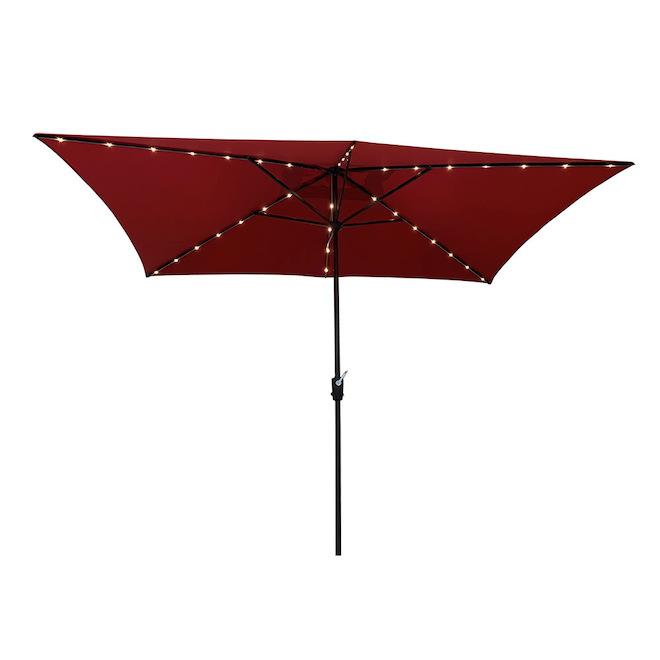 Parasol de marché Simply Shade, 7 pi x 10,5 pi, rouge