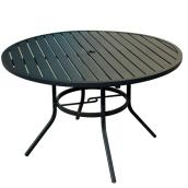 "Pelham Bay Patio Dinner Table - Style Selections - 48"" x 29.25"" - Matte Black"