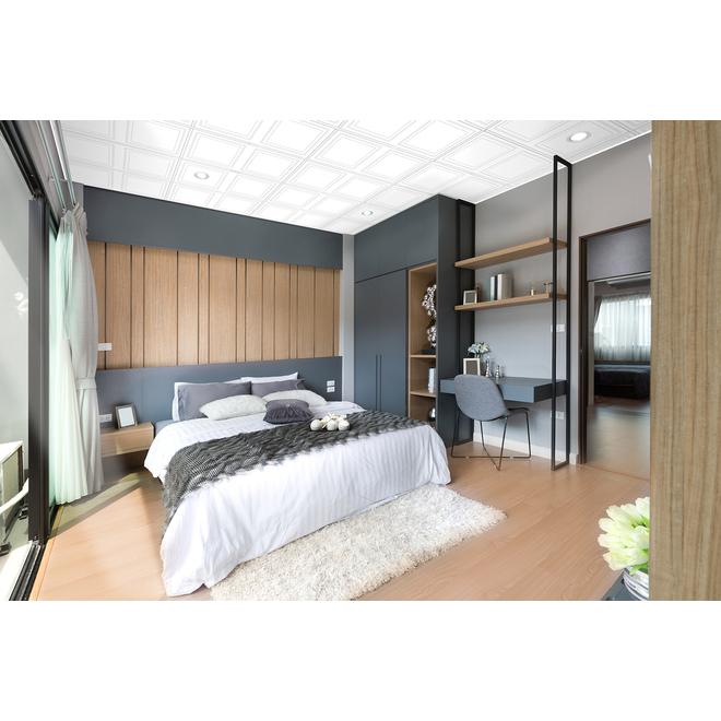 Tuile de plafond MUR design, Polo, 2' x 4', boîte de 4