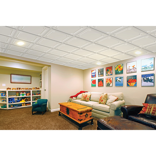 Tuile à plafond Cosmopolitan, 2' x 2', boite de 8
