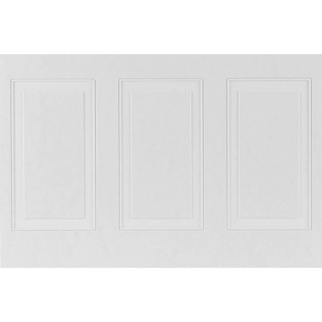 "Mirage Decorative Wall Panel - 32"" x 48"" - HDF - White"