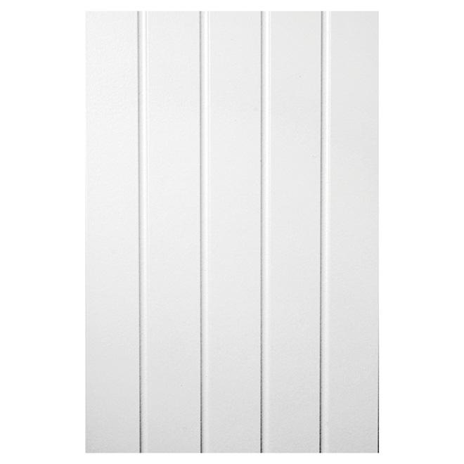 "U-Groove Decorative Wall Panel - 48"" x 96"" - HDF - White"