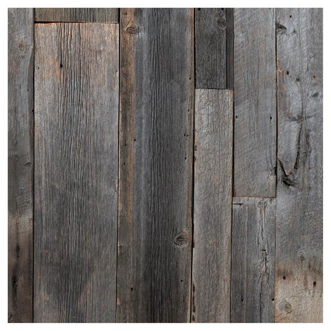 Revêtement mural imitation bois de grange 48 x 96