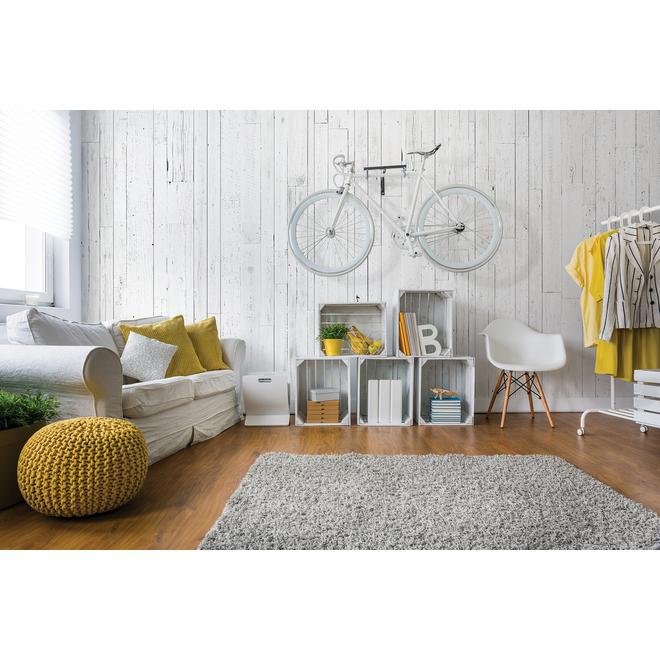 """Revêtement mural, effet de bois, 1/4"""" x 48"""" x 96"""", blanc"""
