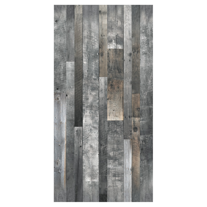 "Wall Panel - Wood Look - 1/4"" x 48"" x 96"" - Grey"