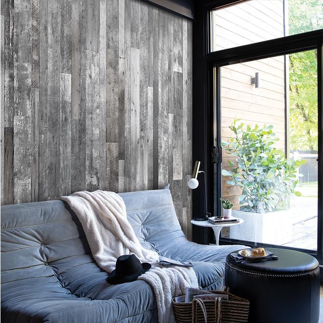 """Wall Panel - Wood Look - 1/4"""" x 48"""" x 96"""" - Grey"""