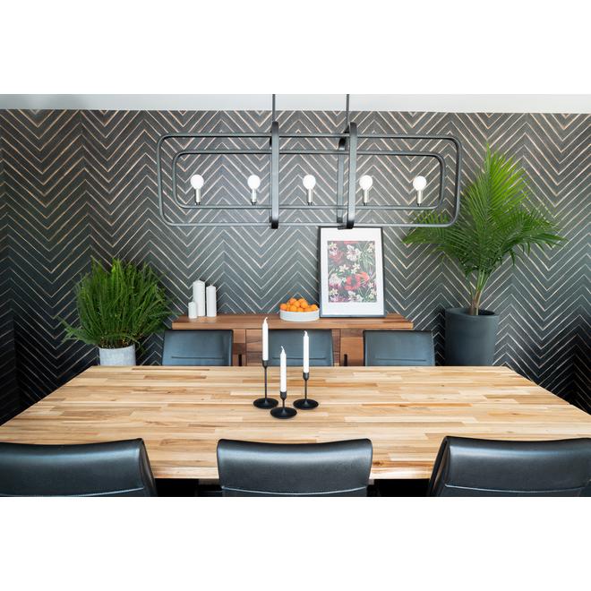 Murdesign Vesper Decorative Panel Hdf 1 4 X 48 X 96 Black Panch I48ve Rona