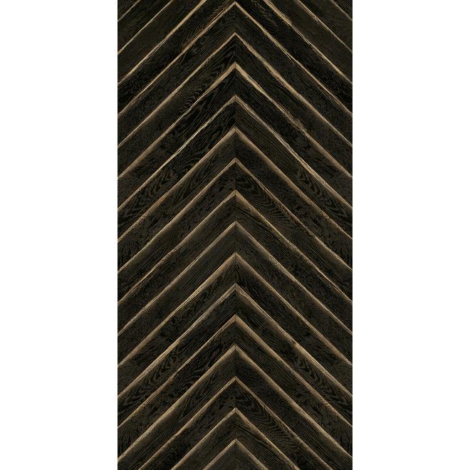 MURdesign Vesper Wall Tiles - Wood Imitation - 24-in x 48-in - Black