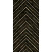 MURdesign Vesper Wall Tiles - Wood Imitation - 24-in x 48-in - Black