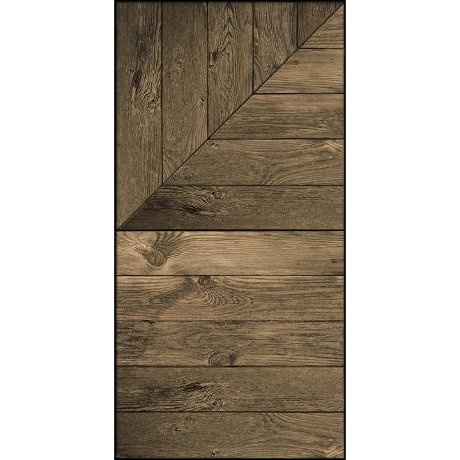 MURdesign Hambourg Wall Tiles - Wood Imitation - 24-in x 48-in - Brown
