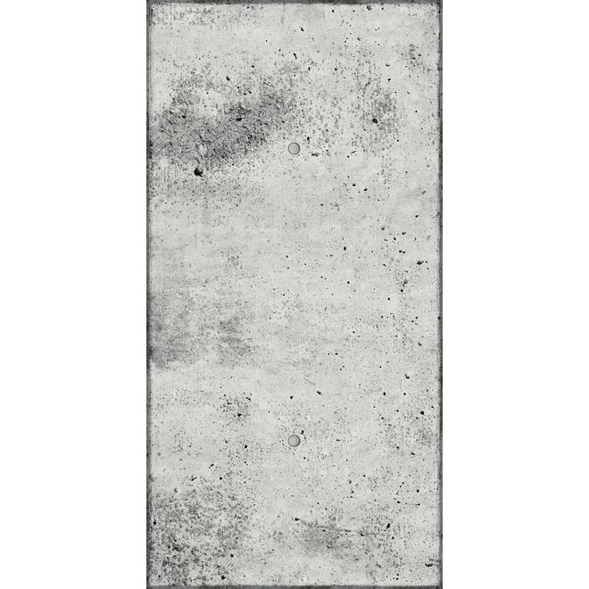 Panneau mural MURdesign Times à effet béton, 24 po x 48 po, gris