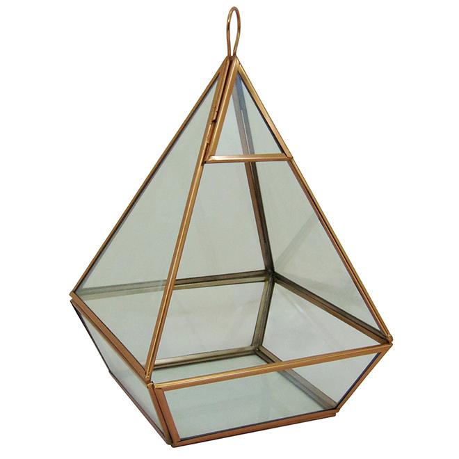 "Terrarium en verre « City Oasis », 12"" X 7,5"" X 7,5"", or"