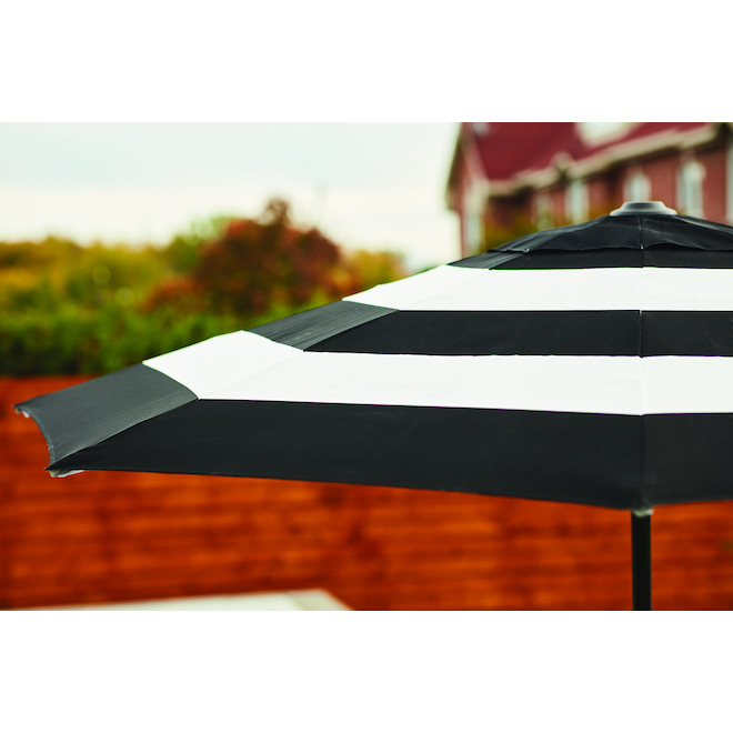 Patio Tilting Market Umbrella - 9' - Black/White