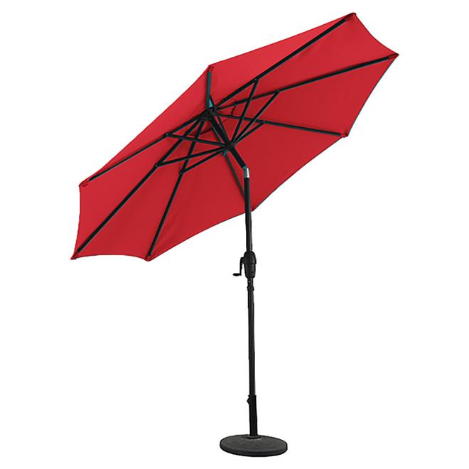 Market Umbrella - Aluminum - 9' - Brown and Red