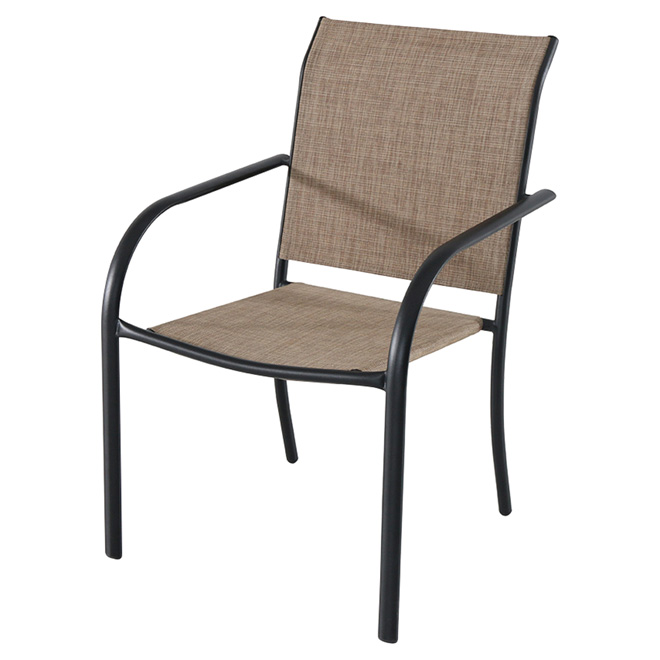 Style Selections Ashville Stackable Patio Chair - Brown and Black