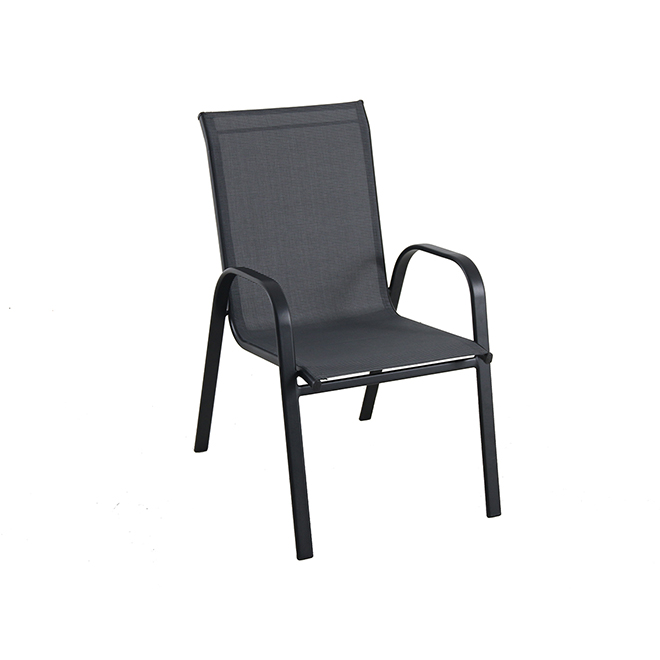 Sensational Stackable Patio Chair Black Home Interior And Landscaping Eliaenasavecom