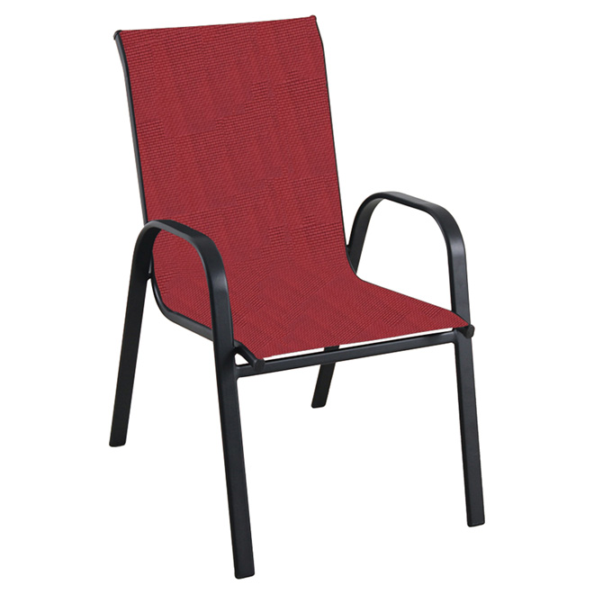 Stackable Patio Chair - Red