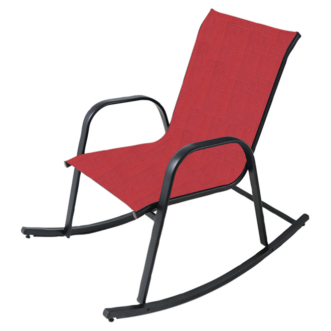 Rocking Chair - Steel - Red and Black