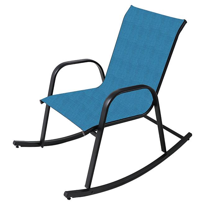 Rocking Chair - Steel - Aqua and Black