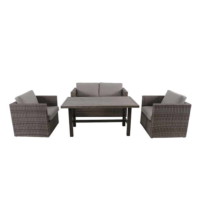 Westbrook 4-Piece Conversation Set - Brown/Grey