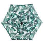 Parasol de marché à motif de feuilles, 7,5', acier/tissu