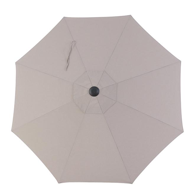 Market Umbrella - 9' - Aluminum/Fabric - Grey