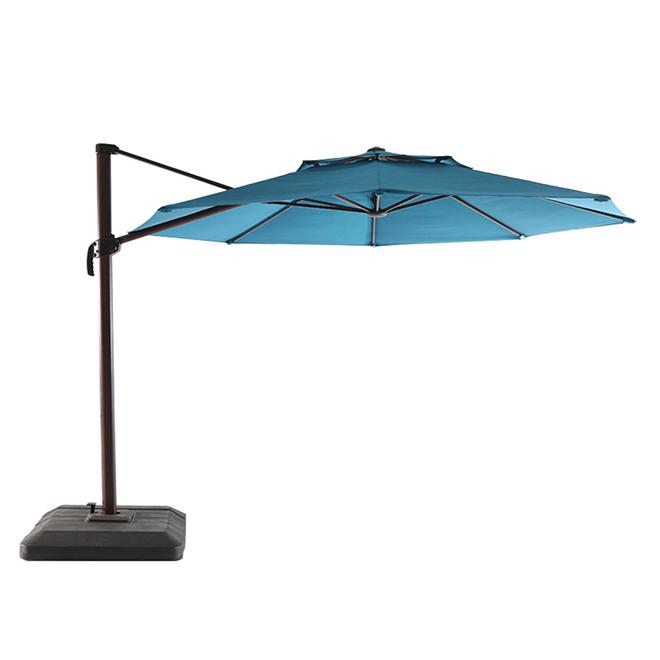 Parasol excentré allen + roth, 11', bleu