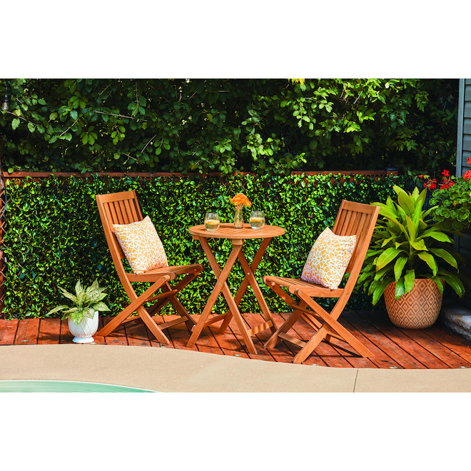 Style Selections Danforth Rea Bistro Set - Wood - 3-Piece - Brown