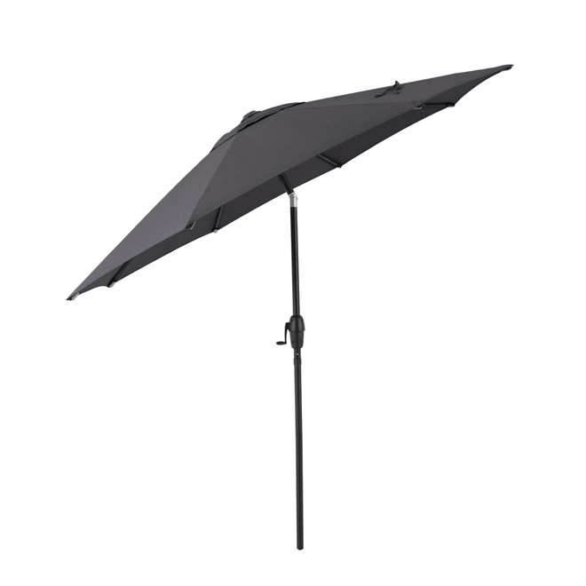 Style Selections Market Umbrella - 9-ft - Black