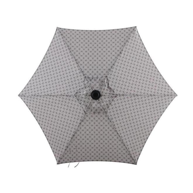 Parasol de marché Style Selections, 7,5 pi, gris