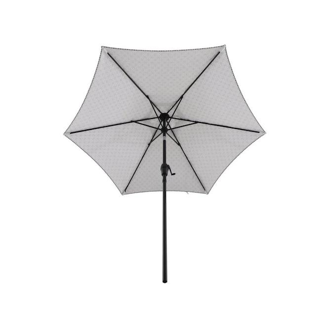 Style Selections Market Umbrella - 7.5-ft x 7.5-ft - Polyester - Grey