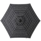 Style Selections Striped Market Umbrella - 7.5-ft - Black