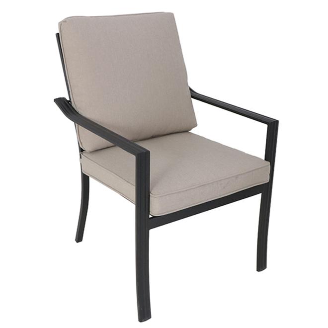 Chaise de patio Glenn Hill de Style Selections, acier, beige, ensemble de 4