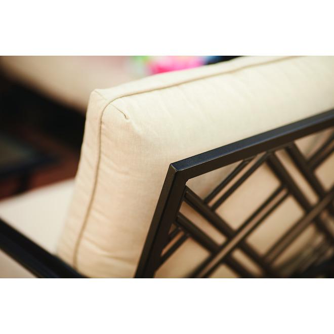 Chaise de patio Glenn Hill par Style Selections, acier, brun, ensemble de 2, 29,25 po x 34,25 po x 35 po