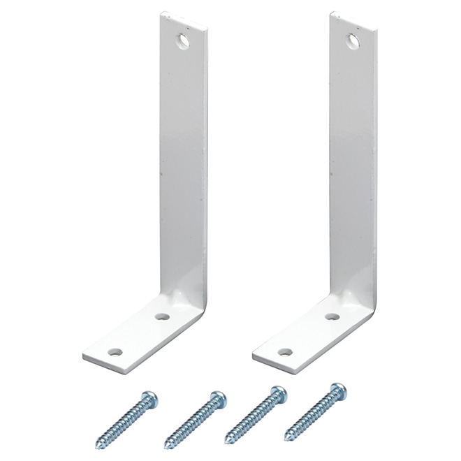 """Projection I-Beam Brackets - 4"""" - White - Pack of 2"""