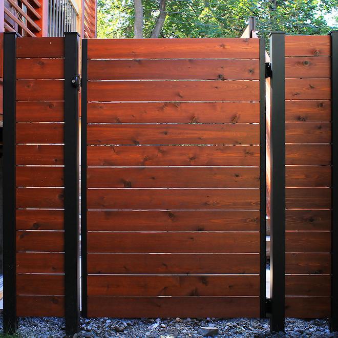 Ensemble de barrières ajustables en aluminium HOFT, noir, thermolaqué, 2 po l. x 71 po H.