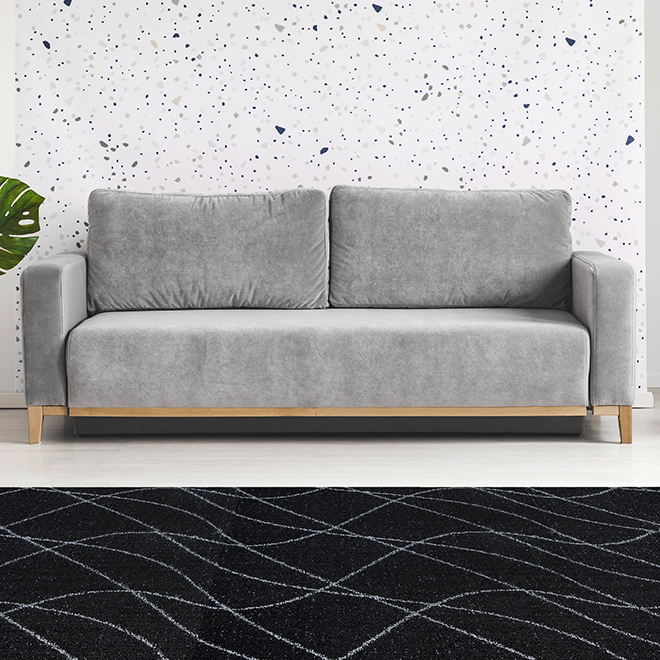 Indoor Rug - Dandy Waves - Olefin - 5' x 6' - Assorted