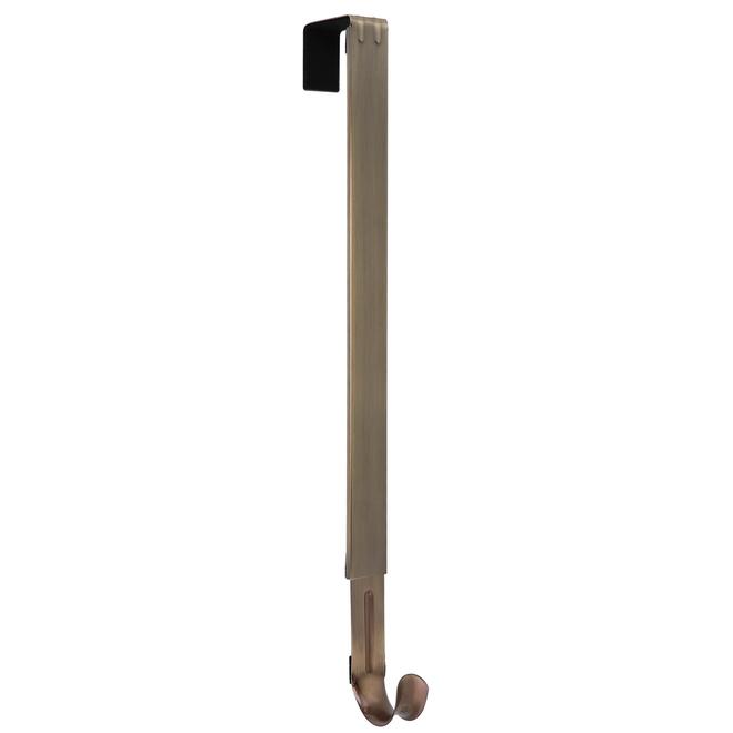 Haute Decor Over-the-Door Wreath Hanger - Adjustable - 16-25-in - Steel - Antique Bronze