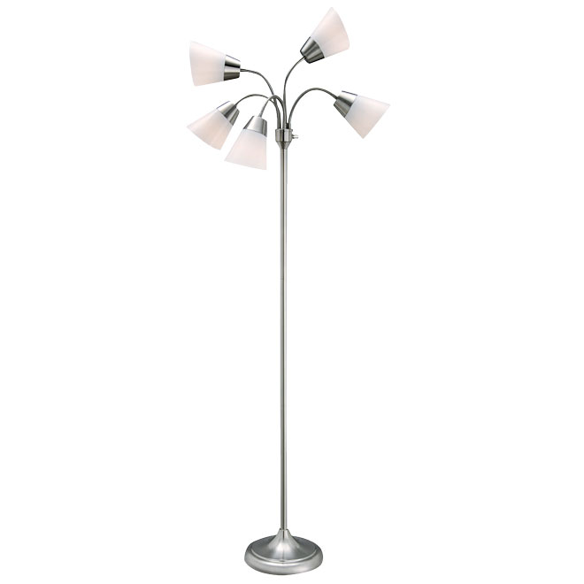 Floor lamp 66 calypso satin steel